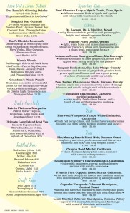 Prime Time menu back