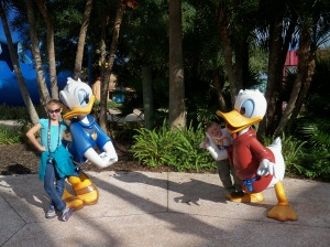 Donald and Daisy at our resort