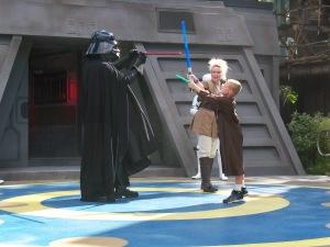Battling against Darth Vader