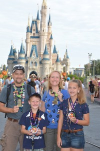 2014 after running the Tower of Terror 10 Miler and the runDisney kid's races!
